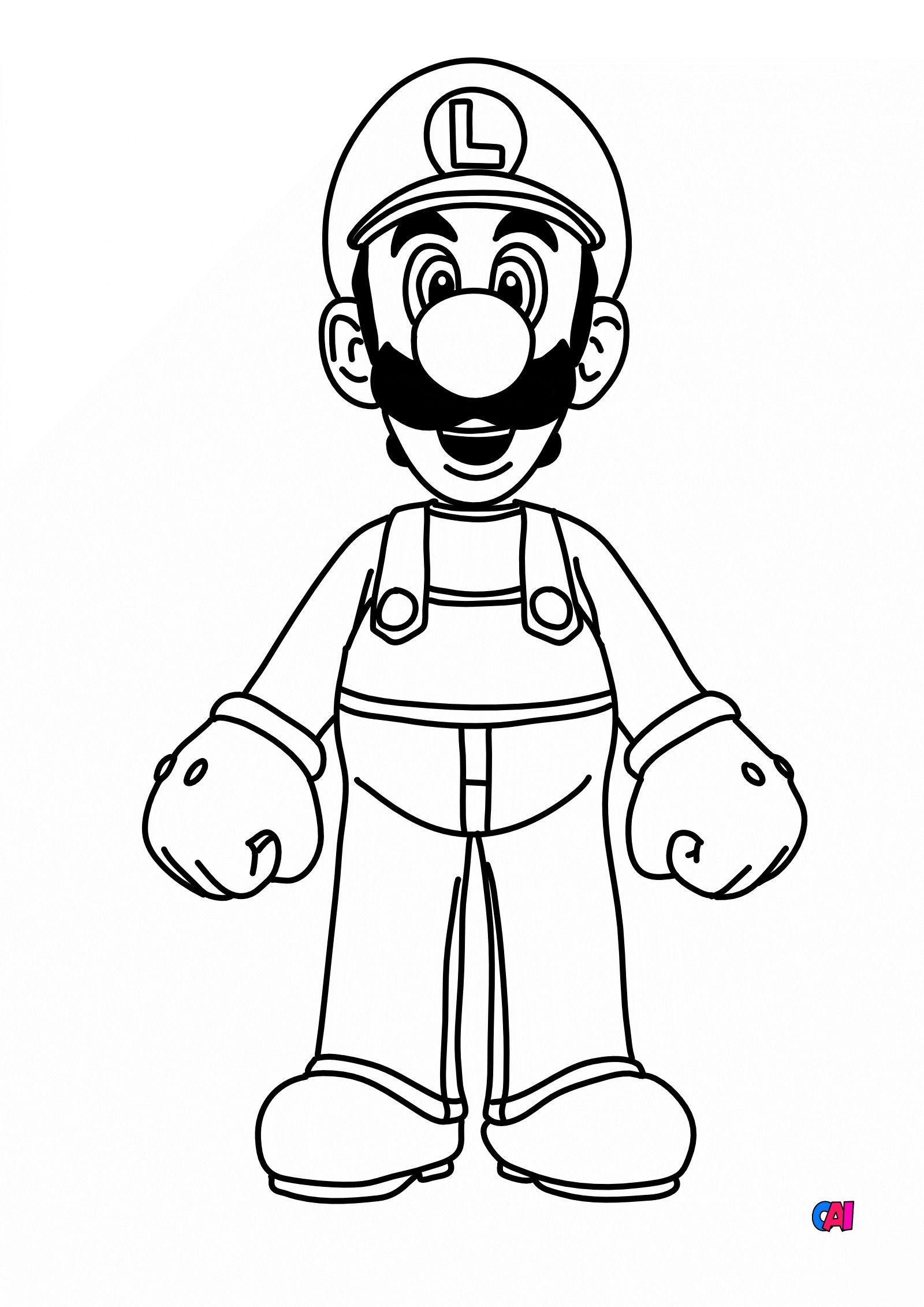 Coloriage Mario à imprimer   Luigi